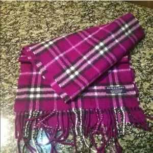 Beautiful authentic Burberry scarf